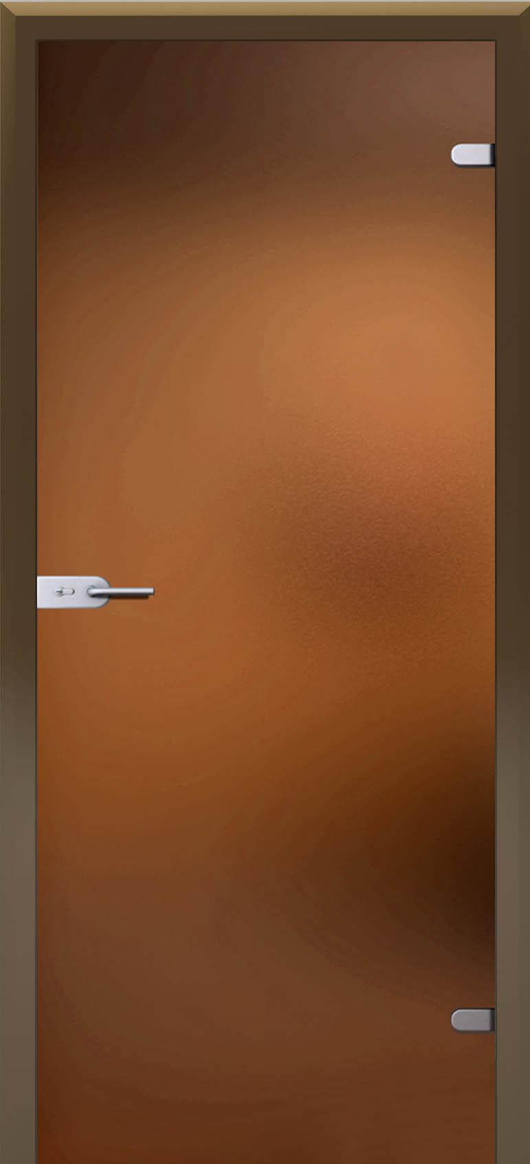 Стеклянная межкомнатная дверь Лайт, Сатинато Бронза